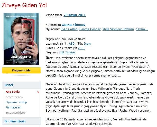 Zirveye Giden Yol - 2011 720p BRRip XviD AC3 - Türkçe Altyazılı indir
